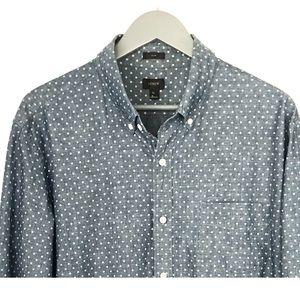 J. Crew Men's Button Down Slim Chambray Shirt -